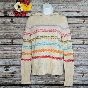 Old Navy Hooded Lambswool Heart Sweater | M